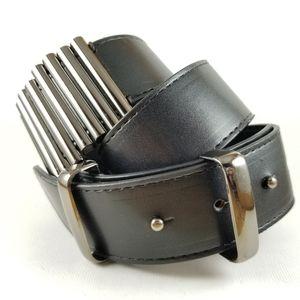ALDO | faux leather metal detail belt